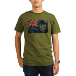 Pitcairn Islands Flag Organic Men's T-Shirt (dark)