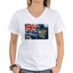 Pitcairn Islands Flag Women's V-Neck T-Shirt