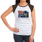 Pitcairn Islands Flag Women's Cap Sleeve T-Shirt