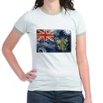 Pitcairn Islands Flag Jr. Ringer T-Shirt