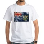 Pitcairn Islands Flag White T-Shirt
