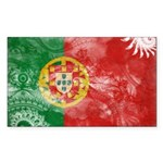 Portugal Flag Sticker (Rectangle 50 pk)