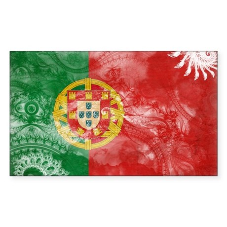 Portugal Flag Sticker (Rectangle)