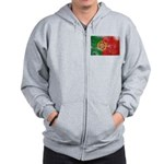 Portugal Flag Zip Hoodie