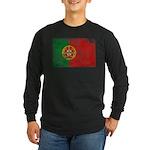 Portugal Flag Long Sleeve Dark T-Shirt