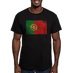 Portugal Flag Men's Fitted T-Shirt (dark)