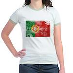 Portugal Flag Jr. Ringer T-Shirt