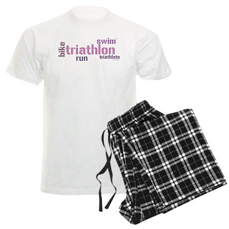 Triathlon Text Men's Light Pajamas