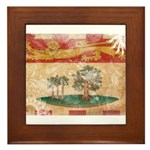 Prince Edward Islands Flag Framed Tile