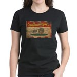 Prince Edward Islands Flag Women's Dark T-Shirt