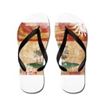 Prince Edward Islands Flag Flip Flops