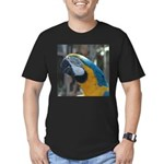 Blue and Gold Macaw Men's Fitted T-Shirt (dark)