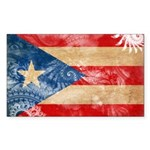 Puerto Rico Flag Sticker (Rectangle 50 pk)
