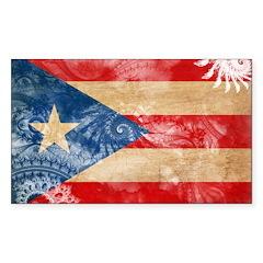 Puerto Rico Flag Sticker (Rectangle 10 pk)