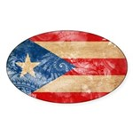 Puerto Rico Flag Sticker (Oval 50 pk)