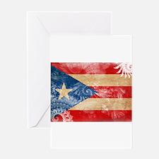 Puerto Rico Flag Greeting Card