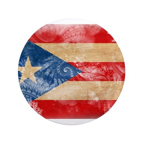 """Puerto Rico Flag 3.5"""" Button (100 pack)"""