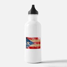 Puerto Rico Flag Water Bottle