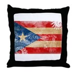Puerto Rico Flag Throw Pillow