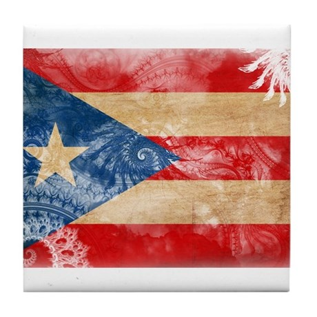 Puerto Rico Flag Tile Coaster