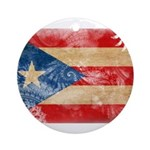 Puerto Rico Flag Ornament (Round)