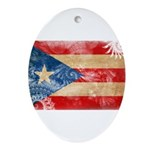 Puerto Rico Flag Ornament (Oval)