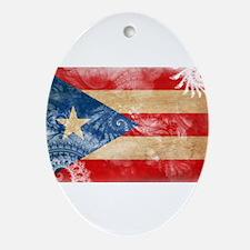 Puerto Rico Flag Ornament (Oval)