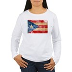 Puerto Rico Flag Women's Long Sleeve T-Shirt