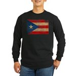 Puerto Rico Flag Long Sleeve Dark T-Shirt