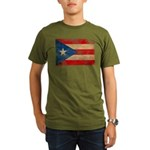 Puerto Rico Flag Organic Men's T-Shirt (dark)
