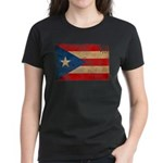 Puerto Rico Flag Women's Dark T-Shirt