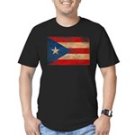 Puerto Rico Flag Men's Fitted T-Shirt (dark)