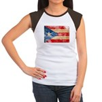 Puerto Rico Flag Women's Cap Sleeve T-Shirt