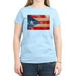 Puerto Rico Flag Women's Light T-Shirt
