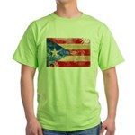 Puerto Rico Flag Green T-Shirt