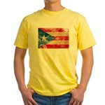 Puerto Rico Flag Yellow T-Shirt