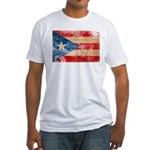 Puerto Rico Flag Fitted T-Shirt