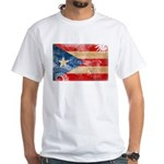 Puerto Rico Flag White T-Shirt
