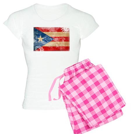 Puerto Rico Flag Women's Light Pajamas