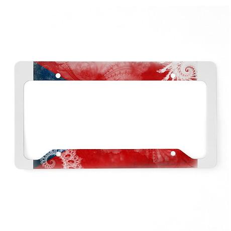 Puerto Rico Flag License Plate Holder