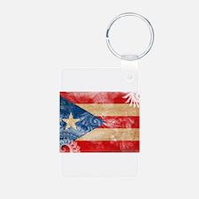 Puerto Rico Flag Keychains