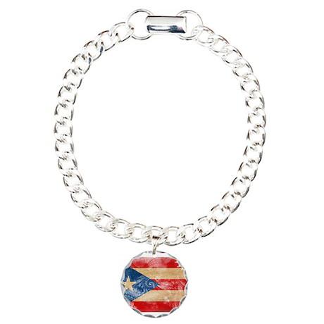 Puerto Rico Flag Charm Bracelet, One Charm