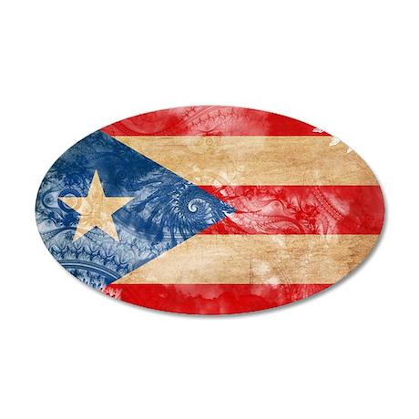Puerto Rico Flag 22x14 Oval Wall Peel