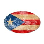 Puerto Rico Flag 22x14 Oval Wall Peel