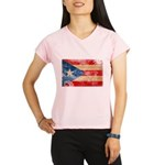 Puerto Rico Flag Performance Dry T-Shirt