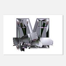 Heavy Metal M Postcards (Pack of 8)