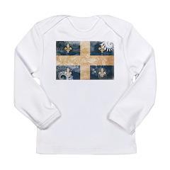 Quebec Flag Long Sleeve Infant T-Shirt