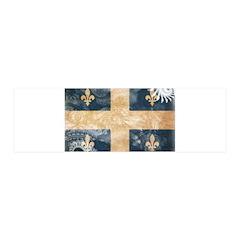 Quebec Flag 21x7 Wall Peel