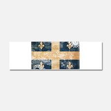 Quebec Flag Car Magnet 10 x 3