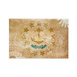 Rhode Island Flag Rectangle Magnet (100 pack)